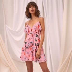 C/Meo Collective Elude Short Sleeve Floral Dress